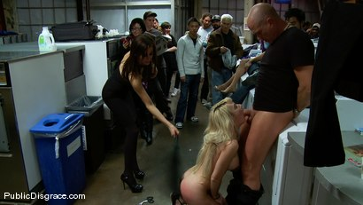 Photo number 12 from Missy Woods Goes to the Laundromat shot for Public Disgrace on Kink.com. Featuring Missy Woods and Mark Davis in hardcore BDSM & Fetish porn.
