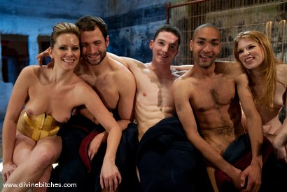 Photo number 9 from Three Slaveboys Milked shot for Divine Bitches on Kink.com. Featuring Mickey Mod, Maitresse Madeline Marlowe , David Chase, Madison Young and Martin Lorenzo in hardcore BDSM & Fetish porn.