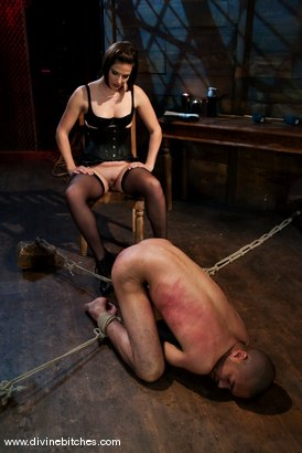 """Photo number 8 from Fresh Meat: Episode 2 """"Thank You Mistress Bobbi"""" shot for Divine Bitches on Kink.com. Featuring Mickey Mod and Bobbi Starr in hardcore BDSM & Fetish porn."""