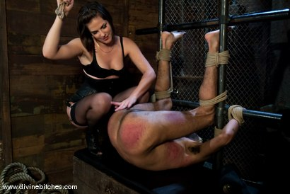 """Photo number 12 from Fresh Meat: Episode 2 """"Thank You Mistress Bobbi"""" shot for Divine Bitches on Kink.com. Featuring Mickey Mod and Bobbi Starr in hardcore BDSM & Fetish porn."""