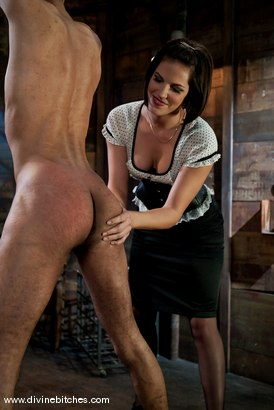 """Photo number 3 from Fresh Meat: Episode 2 """"Thank You Mistress Bobbi"""" shot for Divine Bitches on Kink.com. Featuring Mickey Mod and Bobbi Starr in hardcore BDSM & Fetish porn."""