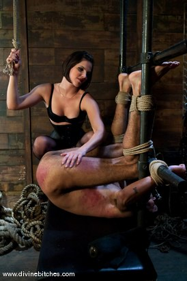 """Photo number 1 from Fresh Meat: Episode 2 """"Thank You Mistress Bobbi"""" shot for Divine Bitches on Kink.com. Featuring Mickey Mod and Bobbi Starr in hardcore BDSM & Fetish porn."""