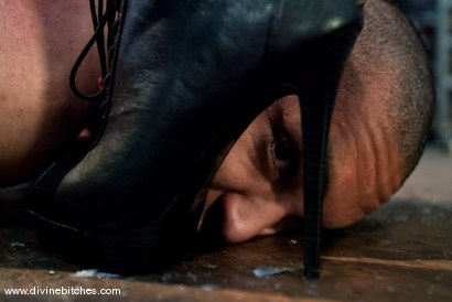 """Photo number 7 from Fresh Meat: Episode 2 """"Thank You Mistress Bobbi"""" shot for Divine Bitches on Kink.com. Featuring Mickey Mod and Bobbi Starr in hardcore BDSM & Fetish porn."""