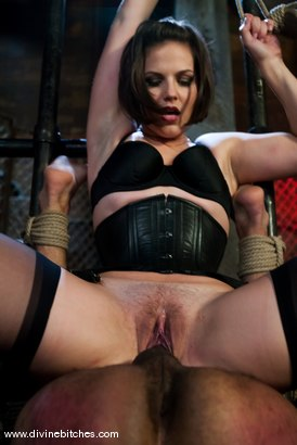 "Photo number 13 from Fresh Meat: Episode 2 ""Thank You Mistress Bobbi"" shot for Divine Bitches on Kink.com. Featuring Mickey Mod and Bobbi Starr in hardcore BDSM & Fetish porn."
