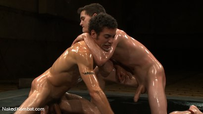 Photo number 8 from CJ vs DJ <br />The Oil Match shot for Naked Kombat on Kink.com. Featuring CJ and DJ in hardcore BDSM & Fetish porn.