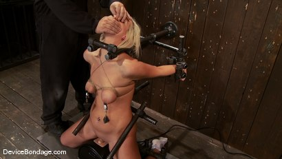 Photo number 9 from Tara Lynn Fox<br> Our hot little 19yr old is back and trapped on a Sybian shot for Device Bondage on Kink.com. Featuring Tara Lynn Foxx in hardcore BDSM & Fetish porn.