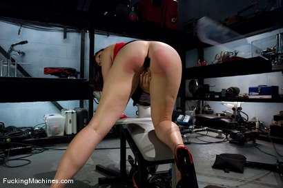 Photo number 3 from AMATEUR GIRL FRIDAYS <br> Sienna shot for Fucking Machines on Kink.com. Featuring Sienna in hardcore BDSM & Fetish porn.