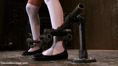Photo number 3 from Katie Summers <br> Cute little girl next door shot for Device Bondage on Kink.com. Featuring Katie Summers in hardcore BDSM & Fetish porn.