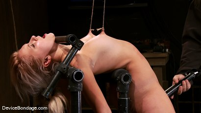 Photo number 14 from Katie Summers<br> Pigtails and nipple torture. Sweet shot for Device Bondage on Kink.com. Featuring Katie Summers in hardcore BDSM & Fetish porn.