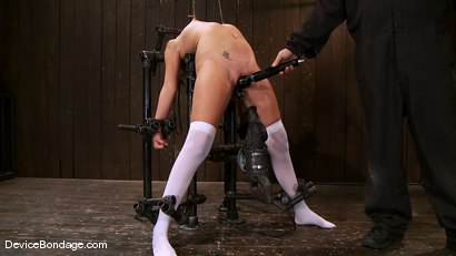 Photo number 5 from Katie Summers<br> Pigtails and nipple torture. Sweet shot for Device Bondage on Kink.com. Featuring Katie Summers in hardcore BDSM & Fetish porn.