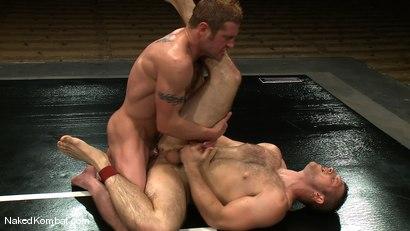 Photo number 13 from Dean Tucker vs Paul Wagner<br />The Oil Match shot for Naked Kombat on Kink.com. Featuring Dean Tucker and Paul Wagner in hardcore BDSM & Fetish porn.
