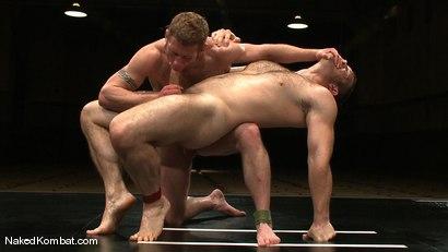 Photo number 12 from Dean Tucker vs Paul Wagner<br />The Oil Match shot for Naked Kombat on Kink.com. Featuring Dean Tucker and Paul Wagner in hardcore BDSM & Fetish porn.