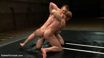 Photo number 6 from Dean Tucker vs Paul Wagner<br />The Oil Match shot for Naked Kombat on Kink.com. Featuring Dean Tucker and Paul Wagner in hardcore BDSM & Fetish porn.