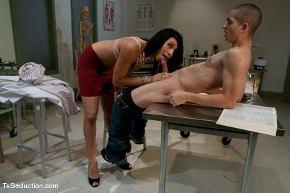 Photo number 4 from The Audition of  Honey Foxxx shot for TS Seduction on Kink.com. Featuring Honey FoXXX and Corey Sullivan in hardcore BDSM & Fetish porn.