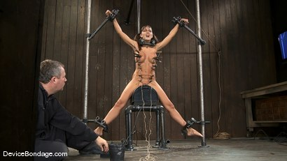 Photo number 5 from Alicia Stone   She never stops coming, so we just let her.. shot for Device Bondage on Kink.com. Featuring Alicia Stone in hardcore BDSM & Fetish porn.
