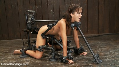 Photo number 1 from Alicia Stone<br>Girl next door, double fucked! shot for Device Bondage on Kink.com. Featuring Alicia Stone in hardcore BDSM & Fetish porn.