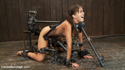 Photo number 9 from Alicia Stone<br>Girl next door, double fucked! shot for Device Bondage on Kink.com. Featuring Alicia Stone in hardcore BDSM & Fetish porn.