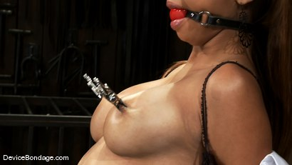 Photo number 3 from Angel Cummings   19 yr old with perfect natural breasts. shot for Device Bondage on Kink.com. Featuring Angel Cummings in hardcore BDSM & Fetish porn.