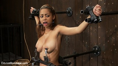 Photo number 6 from Angel Cummings<br> Every 19yr old needs a good bound throat fucking! shot for Device Bondage on Kink.com. Featuring Maestro and Angel Cummings in hardcore BDSM & Fetish porn.