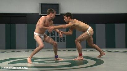 Photo number 3 from DJ vs Kurt Wild shot for Naked Kombat on Kink.com. Featuring DJ and Kurt Wild in hardcore BDSM & Fetish porn.