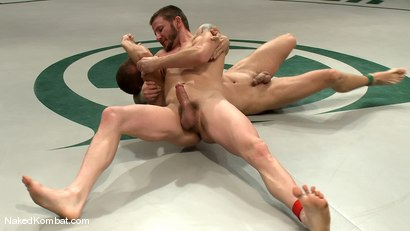 Photo number 8 from Brenn Wyson vs Brandon Lewis shot for Naked Kombat on Kink.com. Featuring Brandon Lewis and Brenn Wyson in hardcore BDSM & Fetish porn.