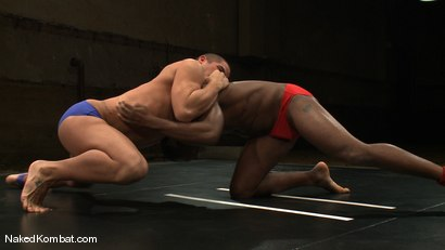 Photo number 2 from Race Cooper vs Trey Turner <br/> The Oil Match shot for Naked Kombat on Kink.com. Featuring Race Cooper and Trey Turner in hardcore BDSM & Fetish porn.