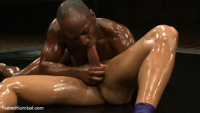 Photo number 9 from Race Cooper vs Trey Turner <br/> The Oil Match shot for Naked Kombat on Kink.com. Featuring Race Cooper and Trey Turner in hardcore BDSM & Fetish porn.