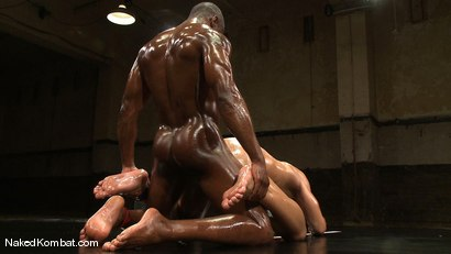 Photo number 14 from Race Cooper vs Trey Turner <br/> The Oil Match shot for Naked Kombat on Kink.com. Featuring Race Cooper and Trey Turner in hardcore BDSM & Fetish porn.