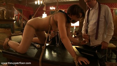Photo number 4 from Slave Time Clock shot for The Upper Floor on Kink.com. Featuring Sarah Shevon in hardcore BDSM & Fetish porn.