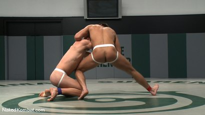 Photo number 3 from Patrick Rouge vs Chad Dylan shot for Naked Kombat on Kink.com. Featuring Chad Dylan and Patrick Rouge in hardcore BDSM & Fetish porn.