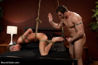 Photo number 12 from Attack The Intruder shot for Bound Gods on Kink.com. Featuring Spencer Reed and Jake Woods in hardcore BDSM & Fetish porn.