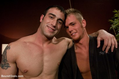 Photo number 15 from Attack The Intruder shot for Bound Gods on Kink.com. Featuring Spencer Reed and Jake Woods in hardcore BDSM & Fetish porn.