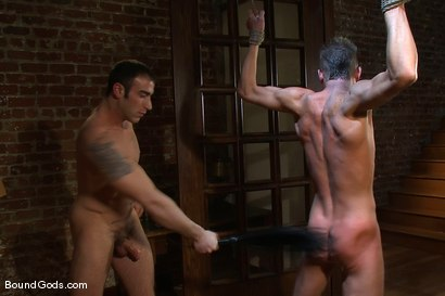 Photo number 11 from Attack The Intruder shot for Bound Gods on Kink.com. Featuring Spencer Reed and Jake Woods in hardcore BDSM & Fetish porn.