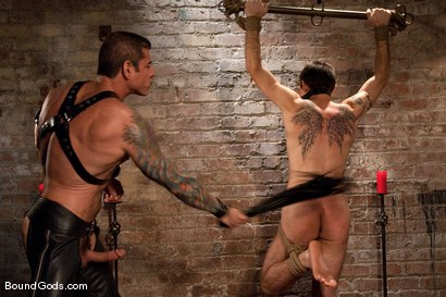 Photo number 8 from The Offering shot for Bound Gods on Kink.com. Featuring Nick Moretti and Dylan Deap in hardcore BDSM & Fetish porn.