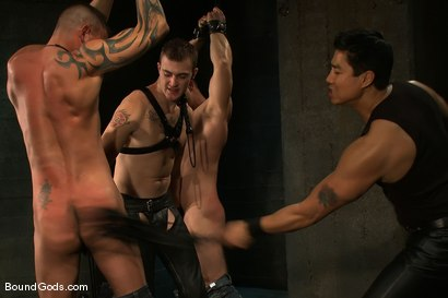 Photo number 5 from Meat Processing shot for Bound Gods on Kink.com. Featuring Christian Wilde, Van Darkholme, Paul Wagner and Derrick Hanson in hardcore BDSM & Fetish porn.