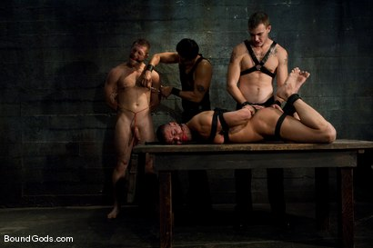 Photo number 11 from Meat Processing shot for Bound Gods on Kink.com. Featuring Christian Wilde, Van Darkholme, Paul Wagner and Derrick Hanson in hardcore BDSM & Fetish porn.