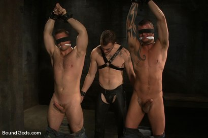 Photo number 2 from Meat Processing shot for Bound Gods on Kink.com. Featuring Christian Wilde, Van Darkholme, Paul Wagner and Derrick Hanson in hardcore BDSM & Fetish porn.