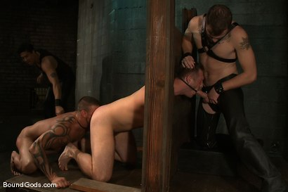 Photo number 8 from Meat Processing shot for Bound Gods on Kink.com. Featuring Christian Wilde, Van Darkholme, Paul Wagner and Derrick Hanson in hardcore BDSM & Fetish porn.