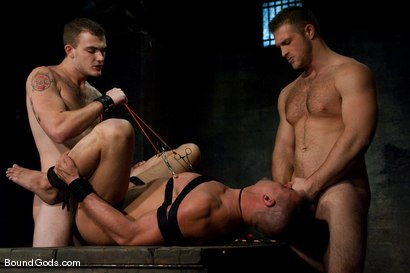 Photo number 13 from Meat Processing shot for Bound Gods on Kink.com. Featuring Christian Wilde, Van Darkholme, Paul Wagner and Derrick Hanson in hardcore BDSM & Fetish porn.