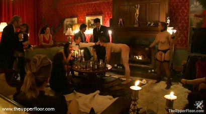 Photo number 5 from Preparing for Guests on the Upper Floor shot for The Upper Floor on Kink.com. Featuring Sarah Shevon, Bella Rossi and Curt Wooster in hardcore BDSM & Fetish porn.