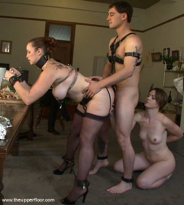 Photo number 1 from Preparing for Guests on the Upper Floor shot for The Upper Floor on Kink.com. Featuring Sarah Shevon, Bella Rossi and Curt Wooster in hardcore BDSM & Fetish porn.