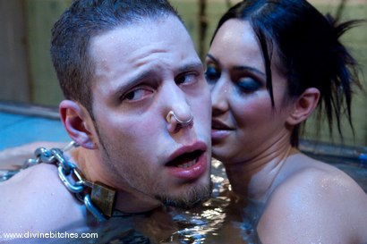 "Photo number 8 from The Adjustment of Wolf Hudson: Episode 3 ""Aquaphobia"" shot for Divine Bitches on Kink.com. Featuring Wolf Hudson and Isis Love in hardcore BDSM & Fetish porn."