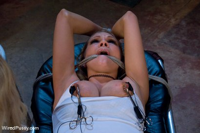 Photo number 4 from Rain DeGrey and the Cattle Prod shot for Wired Pussy on Kink.com. Featuring Aiden Starr and Rain DeGrey in hardcore BDSM & Fetish porn.