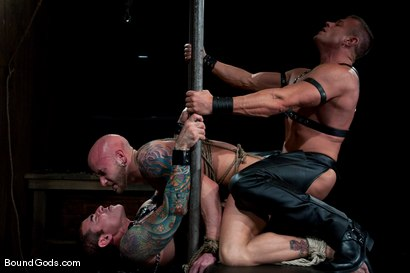 Photo number 14 from Flogs for Fuck II shot for Bound Gods on Kink.com. Featuring Drake Jaden, Tyler Saint and Nick Moretti in hardcore BDSM & Fetish porn.