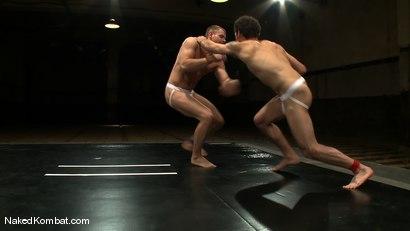 Photo number 4 from Trent Diesel vs DJ shot for Naked Kombat on Kink.com. Featuring Trent Diesel and DJ in hardcore BDSM & Fetish porn.