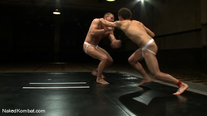 Photo number 4 from Trent Diesel vs DJ shot for Naked Kombat on Kink.com. Featuring Trent Diesel and DJ in hardcore BDSM & Fetish porn.