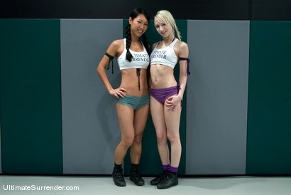 "Photo number 2 from Tia ""Jade"" Ling (0-0)<br>vs<br>Ashley ""The Fairy"" Jane (0-1) shot for Ultimate Surrender on Kink.com. Featuring Tia Ling and Ashley Jane in hardcore BDSM & Fetish porn."