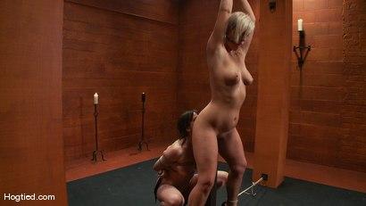 Photo number 3 from Bondage Bimbos Bamboo Bound shot for Hogtied on Kink.com. Featuring Dana DeArmond and Tara Lynn Foxx in hardcore BDSM & Fetish porn.