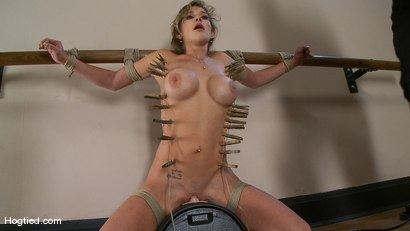 Photo number 13 from Felony.... OVERLOADED & OVERFLOWED shot for Hogtied on Kink.com. Featuring Felony in hardcore BDSM & Fetish porn.