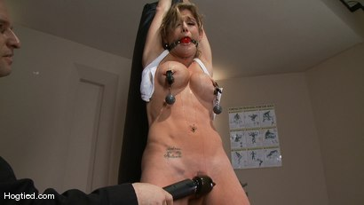 Photo number 2 from Felony.... OVERLOADED & OVERFLOWED shot for Hogtied on Kink.com. Featuring Felony in hardcore BDSM & Fetish porn.